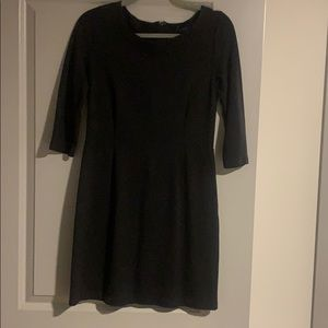 Gap Black 3/4 sleeve dress